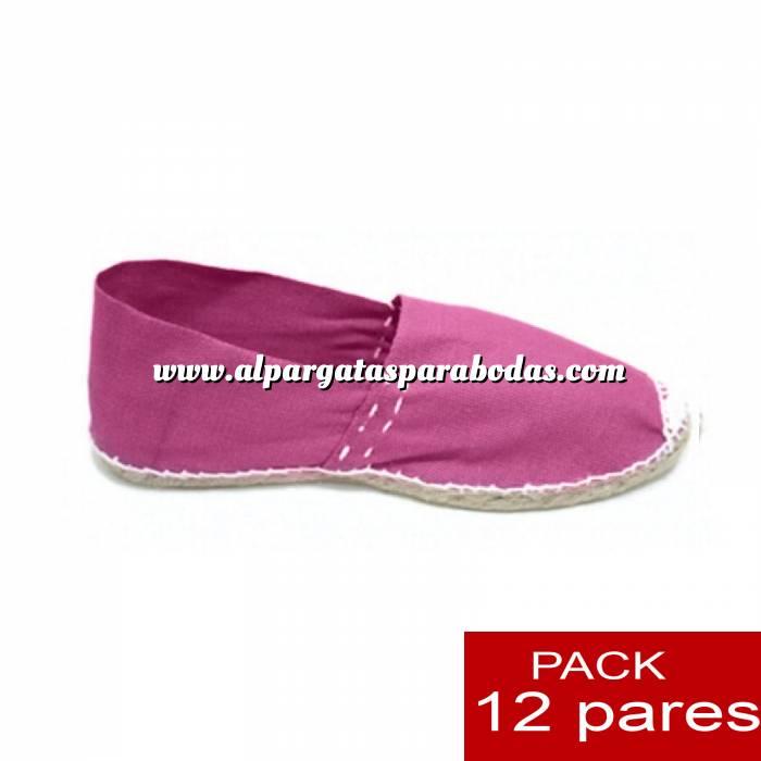 Imagen Para Niño Alpargatas NIÑO color ROSA LOTE de 12 uds (tallas 28-34)
