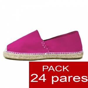Mujer Colores Lisos - Alpargatas cerradas MUJER color FUCSIA - caja 24 pares