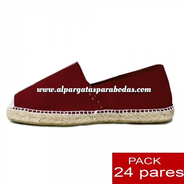 Imagen Para Hombres Alpargatas cerradas HOMBRE color BURDEOS Tallaje 40-46 -caja 24 pares (TIENDA) (duplicado)