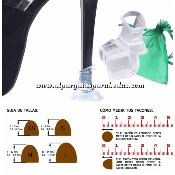 Imagen Protectores de Tacón Protector tacón CUADRADO S (0.7 cms - 0.9 cms) - Cubretacon (1 par)