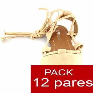 Alta Calidad - Sandalias Embassy DORADAS - Caja de 12 pares (Ref.: Gold 6B-14) (Últimas Unidades)