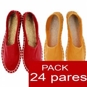 Boda Diseño 2016 - Alpargatas DISEÑO 2016 (Rojo y Amarillo) caja de 24 pares (Últimas Unidades)