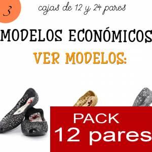Imagen Modelos Economicos Manoletinas Melissa M.311 SILVER - Lote de 12 pares (Tallaje 2) - TALLAJE 36 a 39 (Últimas Unidades)
