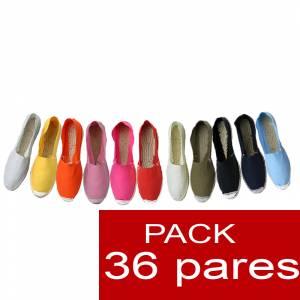 Mujer Cerradas - Alpargatas cerradas Boda Surtidas en colores y tallas OFERTA 2020- caja de 36 pares